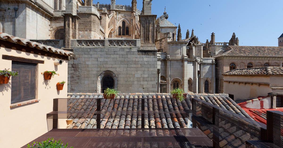 Vistas desde nuestra terraza hacia la Catedral de Toledo